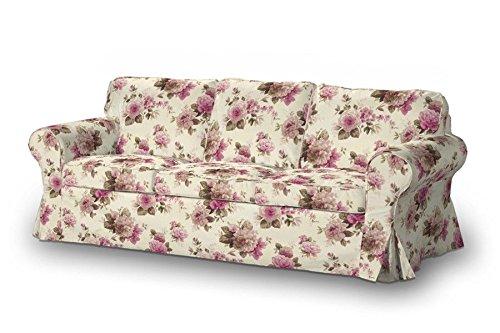 FRANC-TEXTIL 610-141-07 Ektorp 3-Plazas Sofá funda no plegable, sofá funda para Ektorp 3-plazas no plegable, Mirella, beige/rosa