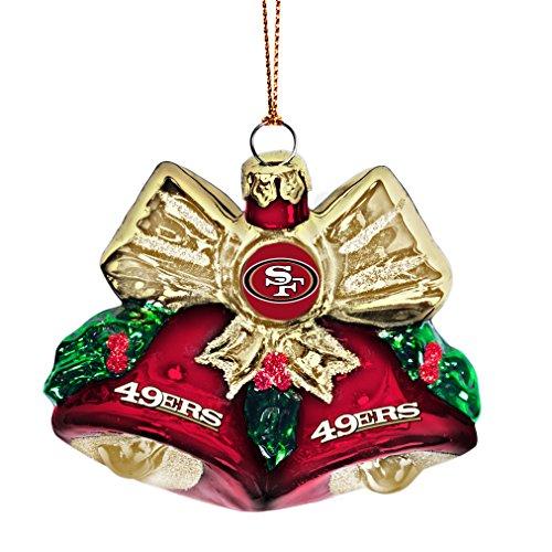 NFL San Francisco 49ers Glitter Bells Ornament