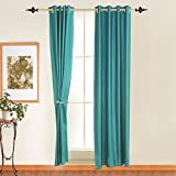 Window Curtain Polyester (1 curtain), 4 x 5 ft, Blue