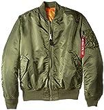 Alpha Industries Men's MA-1 Bomber Blood Chit Flight Jacket