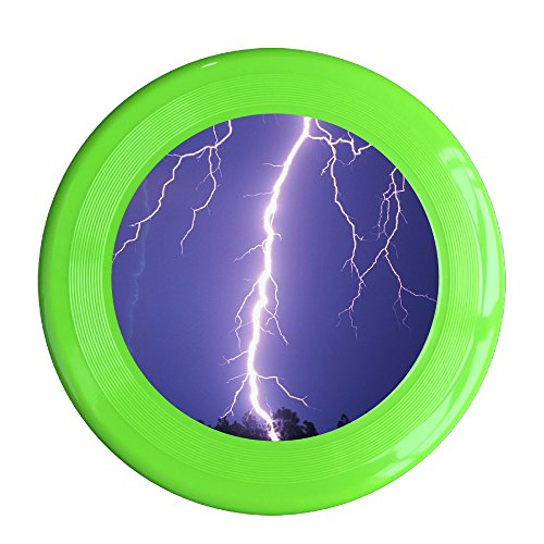 Discovery Wild Lightning Icon Plastic Sportdisc Flying Disc - Frisbee Like Toy For Outdoor Game Play - Sports For All