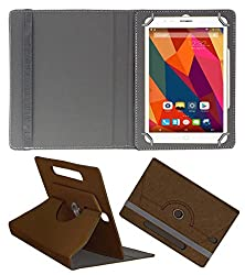 Acm Designer Rotating Case For Swipe Ace Strike 4g Stand Cover Brown