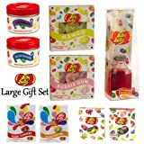 Large Jelly Belly 9 Piece Gift Set (Tealight Candles, Scented Candles Tins, Mini Reed Diffuser, Air Fresheners & Candy Jelly Bean Sweets)