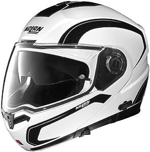 Nolan N104 Action Helmet (White/Black, Small)