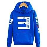 【ドリーム ショップ】Eminem演出服 エミネム/RAP反Eパーカー フード付き/カップルお揃いジャージ/パーカー 応援服 ヒップホップ /4色入り/秋冬 防寒 男女兼用ペアルック トレーナー HOODY (3XLサイズ, ブルー) [並行輸入品]