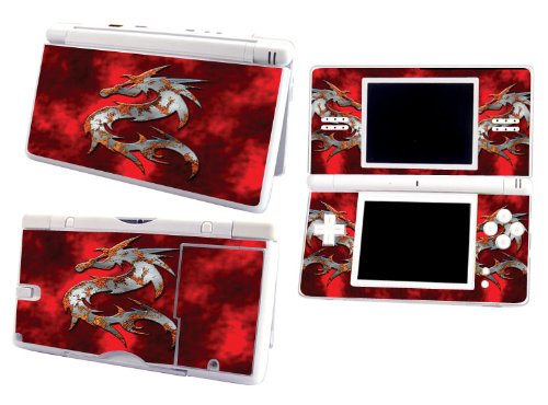 Bundle Monster Nintendo Ndsl Dsl Nds Ds Lite Vinyl Game Skin Case Art Decal Cover Sticker Protector Accessories - Red Dragon