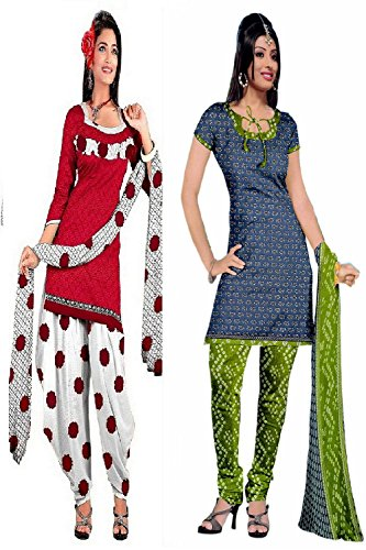 Araham soft crepe / American crepe dress material / unstitched Salwar Suit pack of 2 combo No 530
