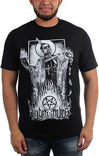 Thy Art Is Murder-Maglietta da uomo, motivo: Prete Nero  nero