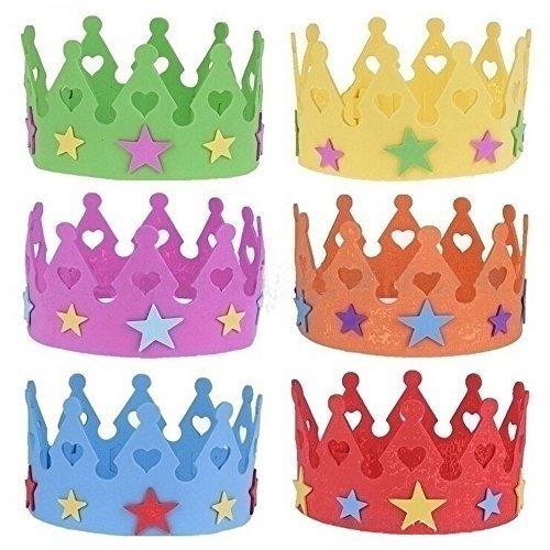 San-Tokra-Adjustable-Foam-Princess-Tiaras-Candy-Color-Adult-Kids-Girls-Happy-Birthday-Crown-Pack-of-6