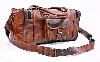 Mens Brown Leather Duffle Bag