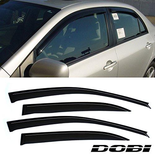 VioletLisa 4pcs Front Rear Smoke Sun/Rain Guard Vent Shade Window Visors For 03-08 Toyota Corolla (2007 Toyota Corolla Vent Visors compare prices)