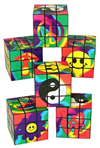 60s Magic Cube Puzzles (1 dz) by Fun Express