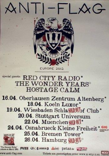 Anti Flag-2012-Tour Poster-General Strike-Tour Poster-Concert