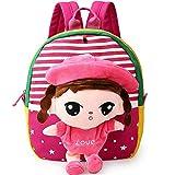 Velsus® koreanische Art-Karikatur-Kinder Schultaschen für Jungen und Mädchen im Kindergarten Kinder 1-2-3 Jahre alt Baby-Rucksack schöne Puppe Tasche Tiertasche (023)