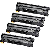 ValueToner Compatible Toner Cartridge Replacement for Canon 128 (3500B001AA) 4 Black Toners Compatible With Imageclass D530, D550, MF4412, MF4420n, MF4450, MF4550, MF4550d, MF4570dn, MF4570dw, MF4580dn, MF4770n, MF4880dw, MF4890dw, FaxPhone L100, L190 Printer