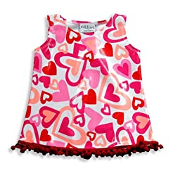 Rubbies - Baby Girls Sleeveless Coverup Dress, White, Pink, Red 17425-12Months