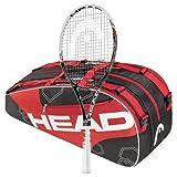 Head 2013 Youtek Graphene Speed MP STRUNG Tennis Racquet plus 6 Racquet Bag by HEAD