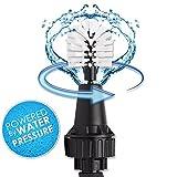 Brush Hero Wheel Brush, Premium Water-Powered Turbine for Rims, Engines, Bikes, Equipment, Furniture and More (White/Black))
