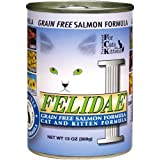 Felidae Canned Cat Food, Grain Free Salmon Formula (Pack of 12 13 Ounce Cans)
