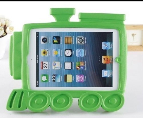 Carry360 Eva Kids Train Engine Shock Proof Protective Case Cover Stand For Ipad Mini - Green