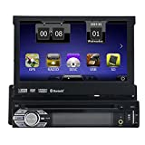 Free 8 GB Map Card Eincar Universal Single 1 DIN 7 inch Motorized HD Touchscreen Car Stereo Autoradio GPS CD DVD Player Receiver, Bluetooth, Detachable Front Panel With Wireless Remote