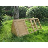 4ft Rabbit Hutch Run Guinea Hutches Chick Poultry Playpen Home Pet Tortoise Woodby LIME SHOP