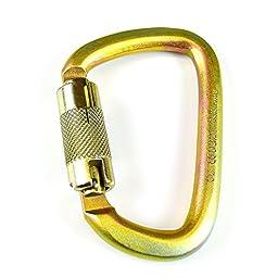 RK Steel Carabiner 50kn (11,200lb) Rated, Twist Auto Lock, ANSI Certified (10)