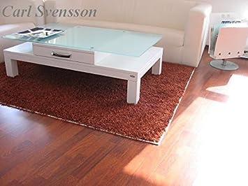 DESIGN COUCHTISCH Tisch V-470H weiß mit Milchglas Carl Svensson