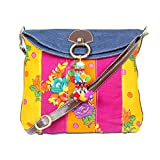 STYLOCUS Denim and Floral Cotton Print Sling