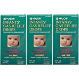 Infants Gas Relief Simethicone 20 mg/0.3ml Drops Dye Free Generic for Mylicon 1 oz (30ML) 3 PACK Total 3 oz