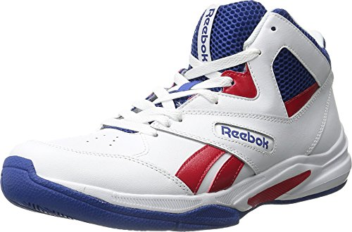 Reebok Men's Pro Heritage 2 Basketball Shoe, White/Scarlet/Team Dark Royal/Black, 10.5 M US (Reebok High Top Shoes compare prices)