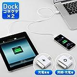 サンワダイレクト iPad iPhone iPod 充電&同期ケーブル 二股USBケーブル 充電専用コネクタ 500-USB024