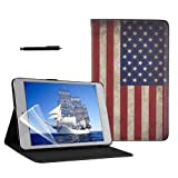 Retro Series Smart PU Leather Case Cover Apple for iPad Mini + Accessories [USA Flag]
