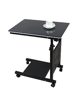 Creative simple portátil plegable mesa borde de la cama aprendizaje de mesa correa polea fácil de mover ( Tamaño : L*W*H:60*40*-(62-90)cm , Estilo : A )