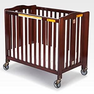 Simmons Simmons Foldaway Evacuation Crib - Black Cherry, Dark Brown, Wood
