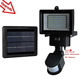 60 LED Solar Motion Sensor Light, Waterproof and all weather durable, Very bright High Output 60 ...