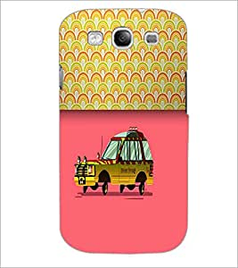 PrintDhaba Car D-4712 Back Case Cover for SAMSUNG GALAXY S3 (Multi-Coloured)