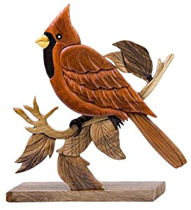 Amazon.com - Intarsia Wood Mosaic Cardinal -