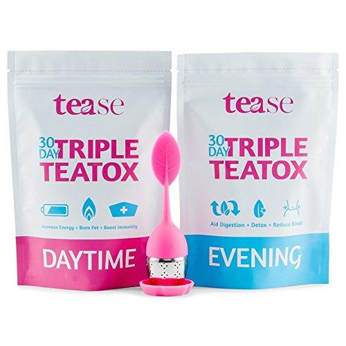 Tease Tea 30 Day Triple Teatox Cleanse and Detox Kit Fat Flush Kit