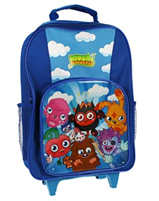 Trade Mark Collections Moshi Monster Wheeled Bag with Front Pocket and Side Mesh storage from Trade Mark Collections