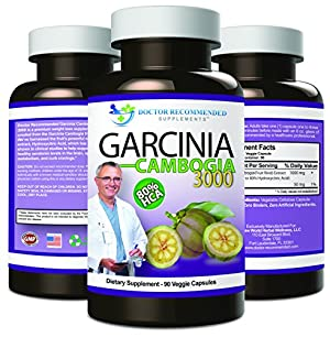 Garcinia Cambogia Capsules-Pure Extract-Natural Dietary Supplement