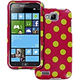 Empire Volle Deckung Case Tasche H�lle for Samsung ATIV S I8750 - Electric Lemonade Polka Dot