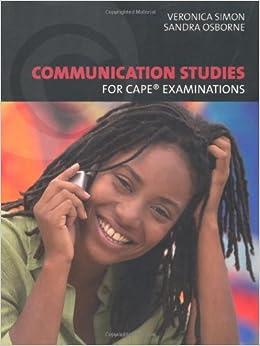 Communication Studies for CAPE Examinations: 9781405079761: Amazon.com