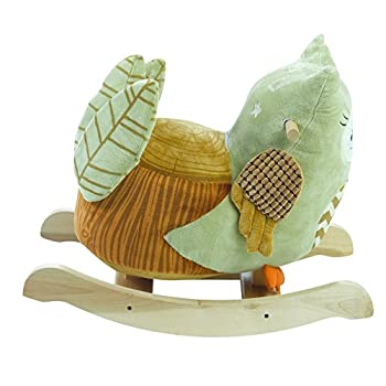 Rockabye Owliver Green Owl Rocker, One Size
