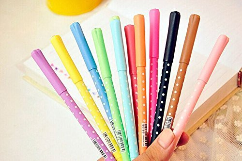 adecco-llc-10colors-available-new-cute-kawaii-korea-gel-pen-set-colorful-ink-by-adecco-llc