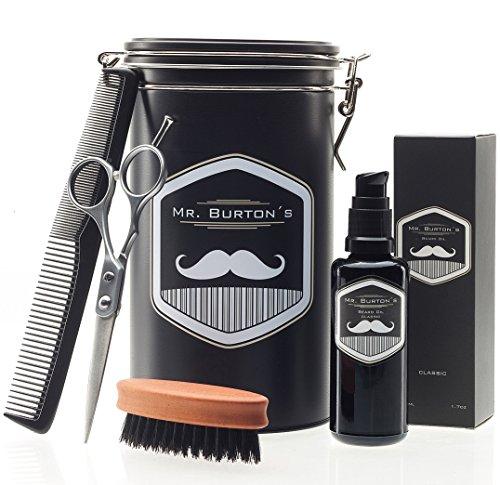 set-de-soins-pour-barbe-de-grande-qualite-comprenant-lhuile-a-barbe-mr-burton-fresh-un-ciseau-et-un-