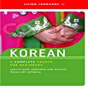 Korean Audiobook by  Living Language
