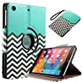 iPad Mini 3 Case iPad Mini Case - ULAK 360 Degree Rotating Case for Apple iPad Mini 1/2/3 - Synthetic Leather Stand Case Cover with Auto Sleep/Wake Function (FOLLOW THE SKY-Blue) WLM from Home Comforts