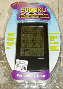 Touch Screen Stylus Sudoku with 4 Levels of Difficulty - Over 1 Million Games