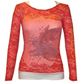 Ed Hardy Long Sleeve Combo Tank-Red